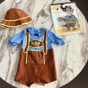 Bavarian Octoberfest/Halloween baby costume 12-18m